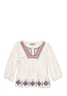 Lucky Brand Francis Embroidered Top Toddler Girls