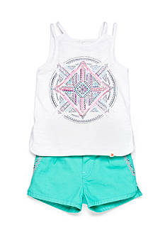 Lucky Brand 2-Piece Piper Tank Top and Short Set Toddler Girls