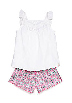 Lucky Brand 2-Piece Willow Tank Top and Printed Short Set Toddler Girls