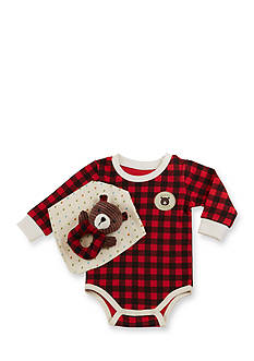 Baby Aspen™ Baby Boy Red Plaid Happy Camper 3-Piece Gift Set