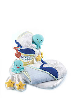 Baby Aspen™ Beach Buddies Bath Time Bucket Three-Piece Gift Set