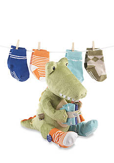 Baby Aspen™ Croc In Socks Plush Plus Four Pairs Of Socks Gift Set