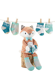 Baby Aspen™ Mr. Fox In Socks Plush Plus Four Pairs Of Socks Gift Set