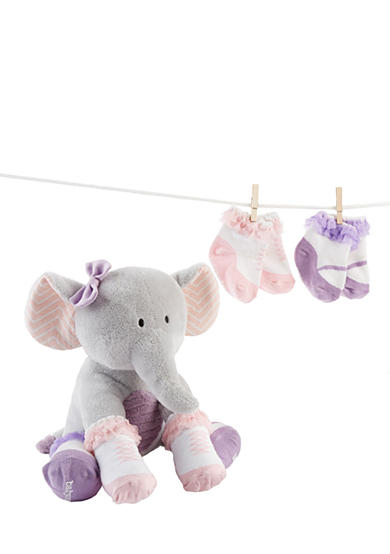 Baby Aspen™ Tootsie In Footsies Plush Plus Elephant And Sock For Baby