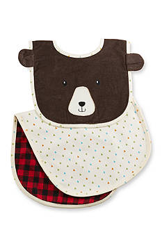 Baby Aspen™ Happy Camper Red Plaid Bib And Burp Gift Set