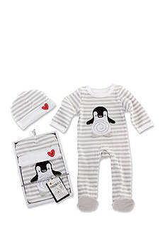 Baby Aspen™ Penguin PJ's Two-Piece Pajama and Cap Set