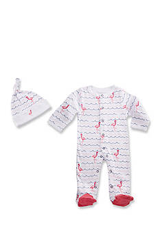 Baby Aspen™ Flamingo PJ's Two-Piece Pajama and Cap Set