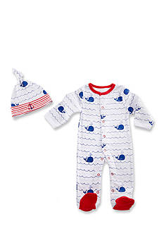 Baby Aspen™ Nautical PJ's Two-Piece Pajama and Cap Set