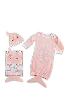 Baby Aspen™ Let The Fin Begin Two-Piece Gown and Cap Set