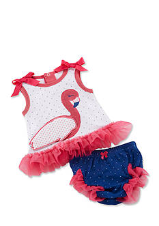 Baby Aspen™ Fancy Flamingo Tunic And Diaper Cover Set