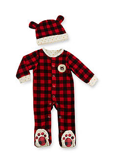 Baby Aspen™ Red Plaid Fleece Pajama Gift Set