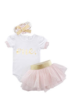 Baby Aspen™ My First Birthday 3-Piece Tutu Outfit Set
