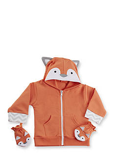 Baby Aspen™ Orange Fox Happy Hoodie and Mittens Set