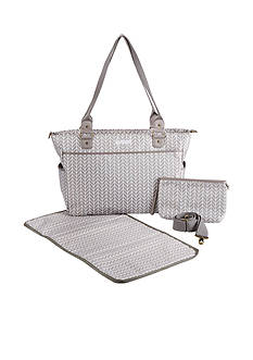Baby Aspen™ Baby Aspen 360 Signature Diaper Bag - Grey Chevron