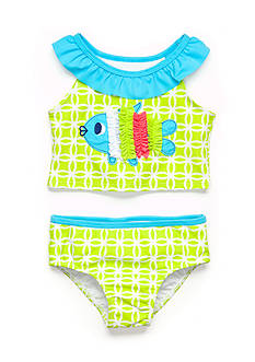 Nursery Rhyme Play™ 2-Piece Fish Tankini Swimsuit Set