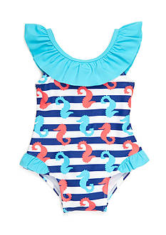 Nursery Rhyme Play™ Stripe Seahorse Swimsuit