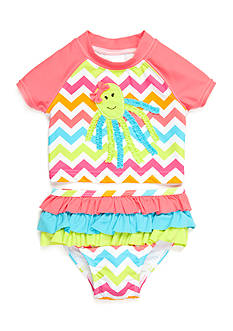 Nursery Rhyme Play™ 2-Piece Octopus Rashguard Set