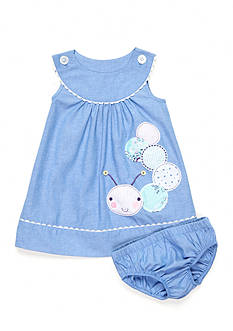 Nursery Rhyme Chambray Caterpillar Dress