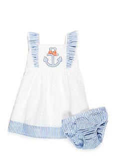 Nursery Rhyme Eyelet Anchor Dress