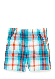 Nursery Rhyme Plaid Pull On Shorts
