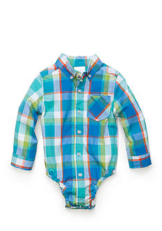 Nursery Rhyme Blue Button Plaid Tee