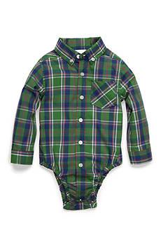 Nursery Rhyme Long-Sleeve Plaid Bodysuit Infant/Baby Boys