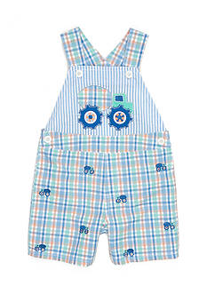 Nursery Rhyme Aqua Plaid Schiffli Shortall