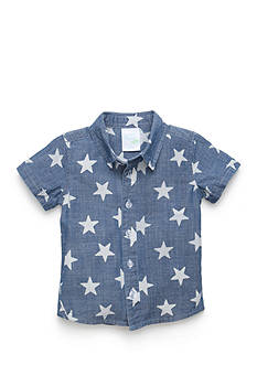 Nursery Rhyme Play™ Chambray Star Button Front Shirt