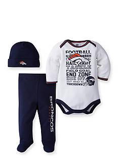 Lamaze Denver Broncos 3-Piece Bodysuit, Pant and Cap Set