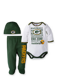Lamaze NFL Green Bay Packers 3-Piece Bodysuit, Pants, and Cap Set
