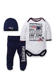 Lamaze New England Patriots 3-Piece Bodysuit, Pant, and Cap Set