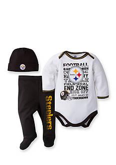 Lamaze NFL ® Pittsburgh Steelers 3-Piece Bodysuit, Pant, and Cap Set