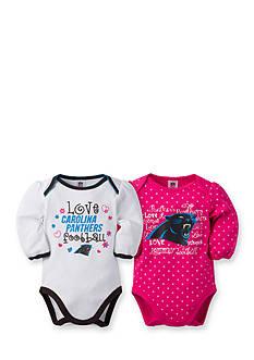 Lamaze NFL® Girls Carolina Panthers 2-Pack Long Sleeve Bodysuit Set