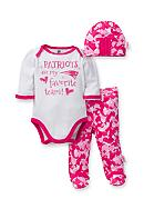 NFL® New England Patriots Girls 3-Piece