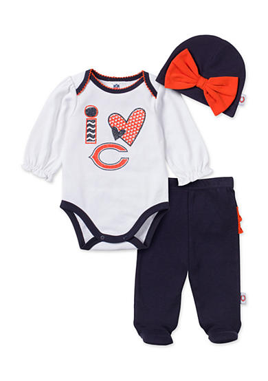 NFL Chicago Bears 3-Piece Bodysuit Set