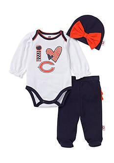 NFL Chicago Bears 3-Piece Bodysuit Set