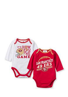 NFL San Francisco 49ers 2-Pack Long Sleeve Bodysuit Set