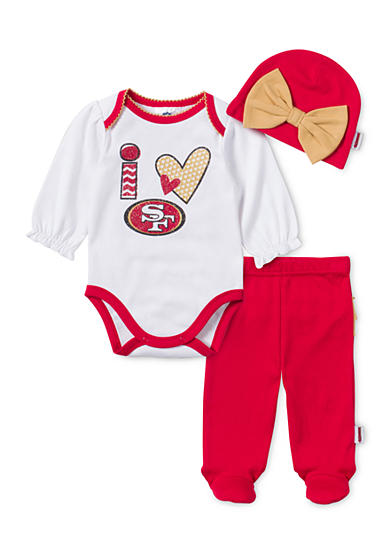 NFL San Francisco 49ers 3-Piece Bodysuit Set