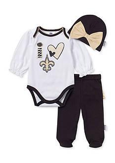 NFL New Orleans Saints 3-Piece Bodysuit Set
