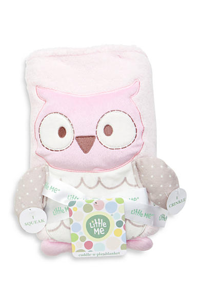 Little Me Cuddly Owl Baby Blanket
