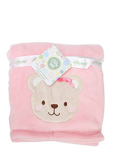 Little Me Plush Happy Bear Blanket