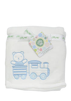 Little Me Bear Train Blanket