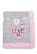 Carter's® Plush Striped Heart Blanket