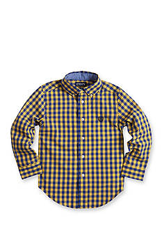 Chaps Gingham Poplin Shirt Toddler Boys