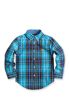 Chaps Plaid Poplin Shirt Toddler Boys