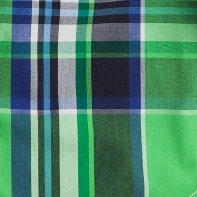 Green Toddler Boy Clothing: Green Chaps Plaid Poplin Shirt Toddler Boys