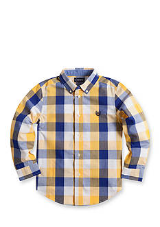 Chaps Checked Poplin Shirt Toddler Boys
