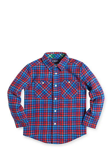 Chaps Plaid Flannel Shirt Toddler Boys