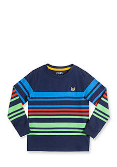 Chaps Long Sleeve Striped Tee Toddler Boys