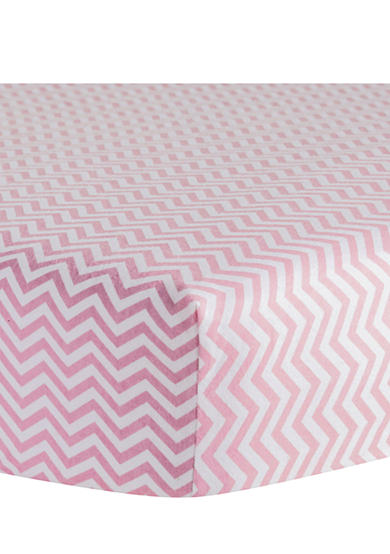 Trend Lab® Pink Chevron Flannel Fitted Crib Sheet - Online Only